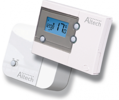Altech thermostat d ambiance radio programmable 7j althc014
