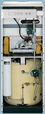 Chaudiere fonte au sol gaz conventionnelle cheminee chauffage ecs unical geal r
