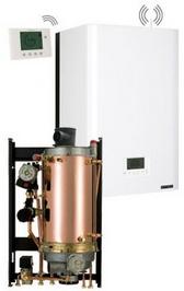 Chaudiere gaz frisquet basse temperature hydromotrix evolution visio 25kw chauffage mixte a semi accumulation 1