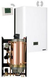 Chaudiere gaz frisquet basse temperature hydromotrix evolution visio 45kw cheminee mixte a semi accumulation