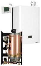 Chaudiere gaz frisquet basse temperature hydromotrix evolution visio 45kw jumelee avec ballon upec 120l cheminee