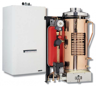 Chaudiere gaz frisquet basse temperature hydromotrix tradition 23kw mixte a semi accumulation avec raccords 2eme circuit