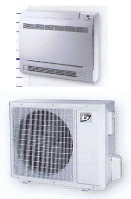 Climatisation console murale basse fixe reversible monosplit ncp frig25ami b frig25ame b
