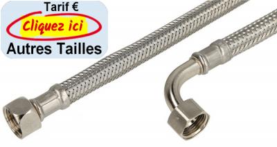 Flexible de raccord coude 90 1000 mm 38 ecrou x 38 ecrou dn 8