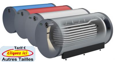 Oeg preparateur d eau chaude horizontal rond sur sol avec 1 echangeur a tube lisse de 120 a 500 litres