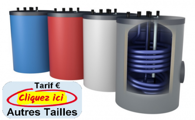 Oeg preparateur d eau chaude vertical faible hauteur sur sol avec 1 echangeur a tube lisse de 80 a 200 litres