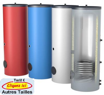Oeg preparateur d eau chaude vertical sur sol avec 1 echangeur a tube lisse de 150 a 500 litres