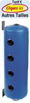 Thermador bouteille de melange ballons tampons murale pour chauffage 4 piquages par cote jaquette skai bleue 1